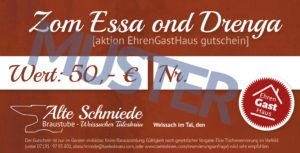 Gutschein Alte Schmiede Aktion Ehrengasthaus