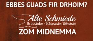Zom midnemma- Abholung Alte Schmiede
